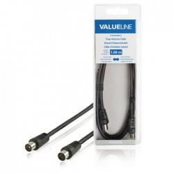 VLSB 40000B 1.00 Coax Cable Coax Male - Coax Female Straight 1.00 m Black