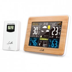 LIFE Rainforest Bamboo Edition Weather station with adaptor & wireless outdoor s