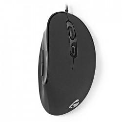 NEDIS ERGOMSWD100BK Ergonomic Wired Mouse 3200 dpi 6-Button Black