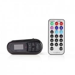 NEDIS CATR100BK Car FM Transmitter Bluetooth microSD Card Slot Handsfree Calling