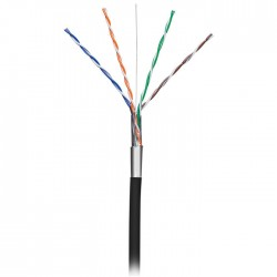 NEDIS CCBGOFTP5BK305 CAT5e F/UTP Network Cable Solid - 305 m Black