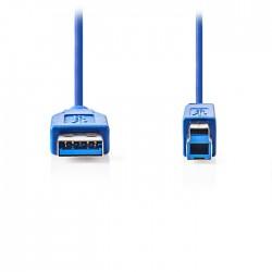 NEDIS CCGP61100BU20 USB 3.0 Cable A Male - B Male 2.0 m Blue