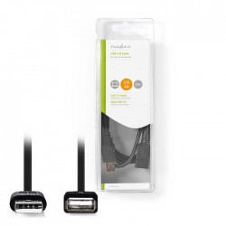 NEDIS CCGB60010BK20 USB 2.0 Cable A Male - A Female 2.0 m Black