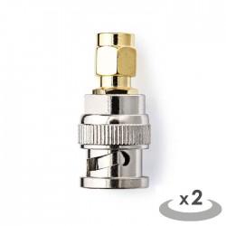 NEDIS CSGP02960GD SMA - BNC Adapter SMA Male - BNC Male 2 pieces Gold / Metal