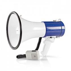 NEDIS MEPH200WT Megaphone 25 W 1500 m Range Detachable Microphone White/Blue