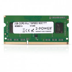 2-POWER MEM0801A 2GB SoDIMM DDR3 MultiSpeed 1066/1333/1600 MHz (1.5V/1.35V)