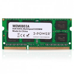 2-POWER MEM0803A 8GB SoDIMM DDR3 MultiSpeed 1066/1333/1600 MHz(1.5V/1.35V)