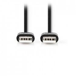 NEDIS CCGT60000BK20 USB 2.0 Cable A Male - A Male 2.00 m Black