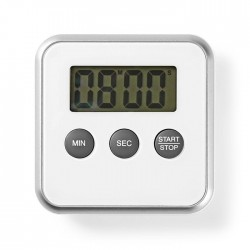 NEDIS KATR102WT Kitchen Timer Digital Display White