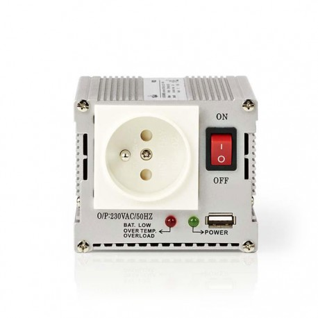 NEDIS PIMS30012E Power Inverter Modified Sine Wave 12V DC - 230V AC 300W 1x Pin