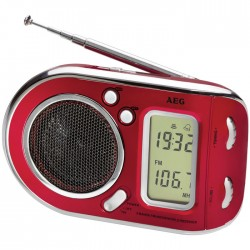 WE 4125  RED MULTI BAND RADIO              000463