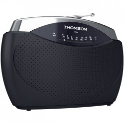 THOMSON RT222 BLACK PORTABLE FM RADIO
