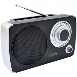 THOMSON RT240 BLACK PORTABLE FM RADIO
