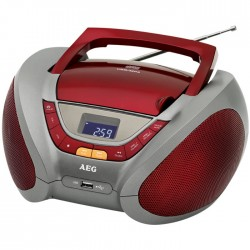 SR 4358 RED STEREO RADIO WITH CD/MP3  005963