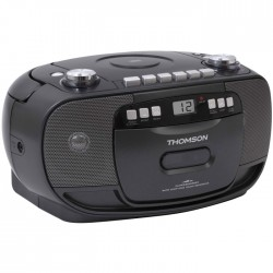 THOMSON RK200CD PORTABLE RADIO CD/CASSETTE BLACK (5W)
