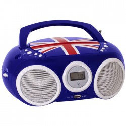 BIGBEN CD32GB BLUE PORTABLE RADIO CD/MP3 (GB FLAG)
