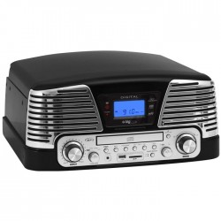 BIGBEN TD79NM BLACK RETRO RADIO/TURNTABLE/CD/MP3/USB