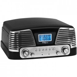 BIGBEN TD016NM BLACK RETRO RADIO/TURNTABLE