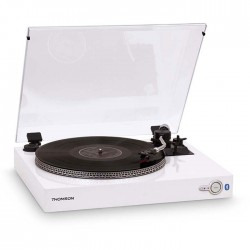 THOMSON TT201BT WHITE AUTOMATIC BLUETOOTH TURNTABLE