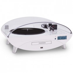 THOMSON TT401CD 3 SPEED TURNTABLE WITH CD/MP3 WHITE