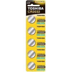TOSHIBA CR2032 3V 210mAh ΜΠΑΤΑΡΙΑ ΛΙΘΙΟΥ  Καρτέλα 5 τεμ
