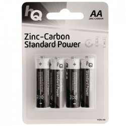 HQR6/4BL Zinc-carbon AA battery 4-blister