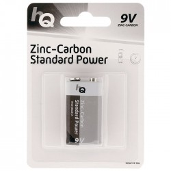 HQ 6F22/1BL Zinc-carbon 9 V battery 1-blister