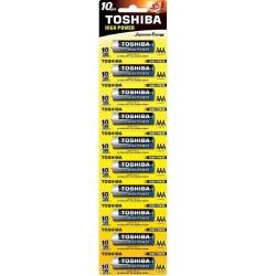 TOSHIBA AAA LR03  ΑΛΚΑΛΙΚΗ ΜΠΑΤΑΡΙΑ Blister 10