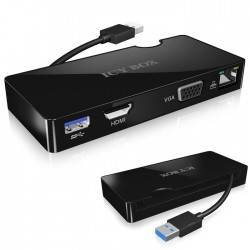 IB-DK401 USB 3.0 NOTEBOOK DOCKING STATION / 20851