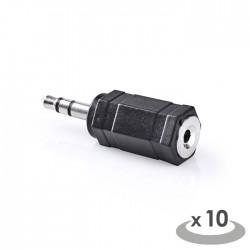 NEDIS CAGP22930BK Stereo Audio Adapter 3.5 mm Male - 2.5 mm Female 10 pieces Bla