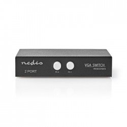NEDIS CSWI5902BK 2-Port VGA Switch Black