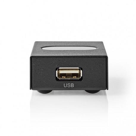 NEDIS CSWI6002BK 2-Port USB Switch Black