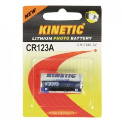CR123A Kinetic Lithium Battery 3 V 1-Blister