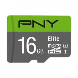 PNY P-SDU16GU185GW-GE 16GB Elite microSDHC Memory Card