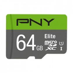 PNY P-SDUX64U185GW-GE 64GB Elite microSDXC Memory Card