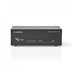 NEDIS CSPL5904BK 4-Port VGA Splitter Black