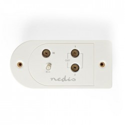 NEDIS SAMP40125WT CATV Amplifier Max. 25 dB Gain 40 - 862 MHz 2 Outputs IEC