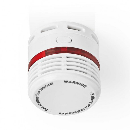 NEDIS DTCTSL50WT Smoke Detector EN14604 10-Year Lifespan Small Design
