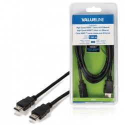 VLVB 34000B 1.50 HDMI cable with Ethernet HDMI connector