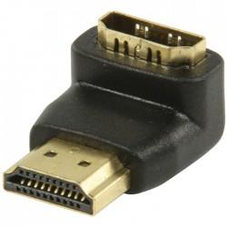 VGVP 34901 B HDMI connector 90° angled - HDMI input black