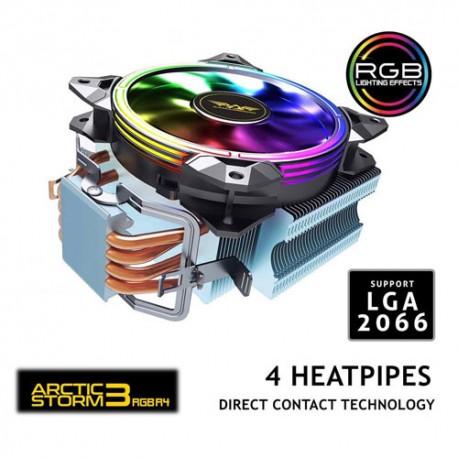 ARMAGGEDDON CPU AIR COOLER 1500 RPM ARTIC STRORM 3 RGB R4 HEATPIPES