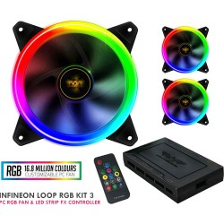 ARMAGGEDDON GAMING PC COOLING FAN SET INFINEON LOOP RGB KIT 3