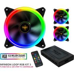 ARMAGGEDDON GAMING PC COOLING FAN SET NIMITZ LOOP RGB KIT 3