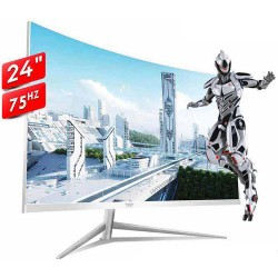 """ARMAGGEDDON PIXXEL+ PRO 24"""" CURVED SCREEN PROFFESSIONAL AND GAMING MONITOR PC24HD WHITE"""