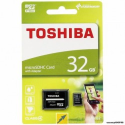 TOSHIBA MICRO SD 32GB WITH ADAPTOR