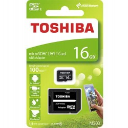 TOSHIBA MICRO SD 16GB CLASS 10 M203 UHS I WITH ADAPTER