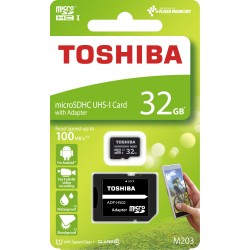 TOSHIBA MICRO SD 32GB CLASS 10 M203 UHS I WITH ADAPTER