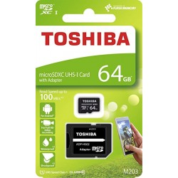 TOSHIBA MICRO SD 64GB CLASS 10 M203 UHS I WITH ADAPTER