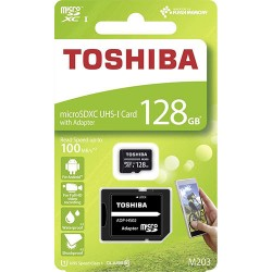 TOSHIBA microSD M203 128GB CL 10 UHS I U1 WITH ADAPTER