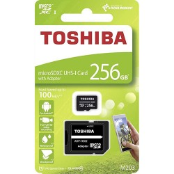 TOSHIBA microSD M203 256GB CL 10 UHS I U1 WITH ADAPTER
